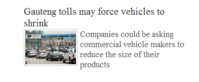 Business Day Shrinking Cars
